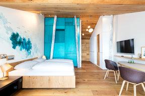 Panorama Doppelzimmer Appartement Seesicht und Balkon