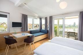 Familien-Suite östliche Seesicht und Balkon